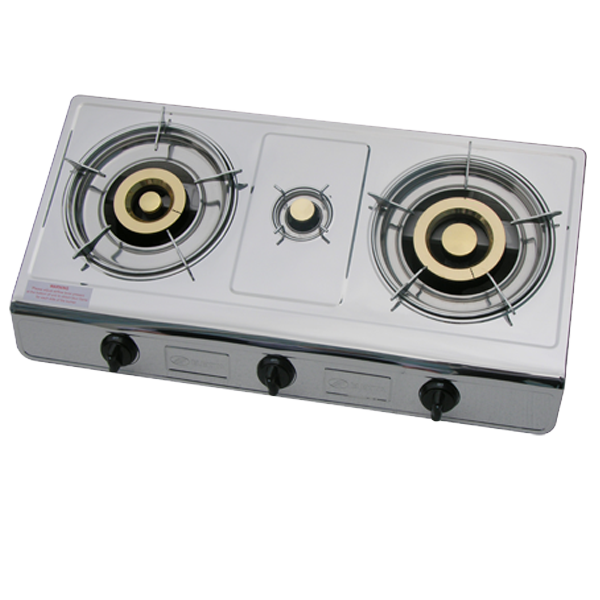 eaa14aa0d Triple Burner Gas Stove Stainless Steel
